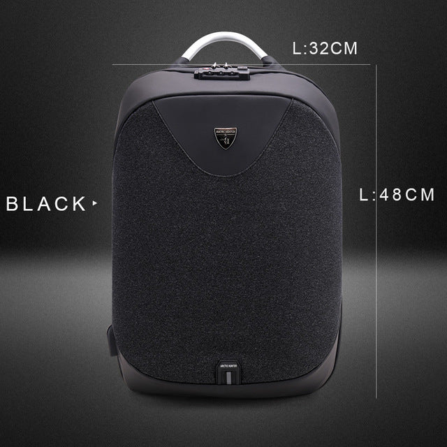 Anti-Theft & Waterproof Backpack with USB Interface