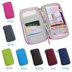 Travel passport wallet & document organizer bag