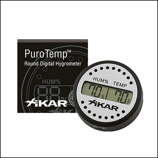 XIKAR DIGITAL HYGROMETER AND THERMOMETER - ROUND