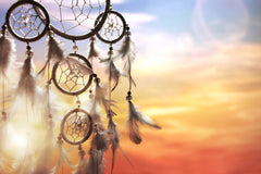 dream catcher in sunset