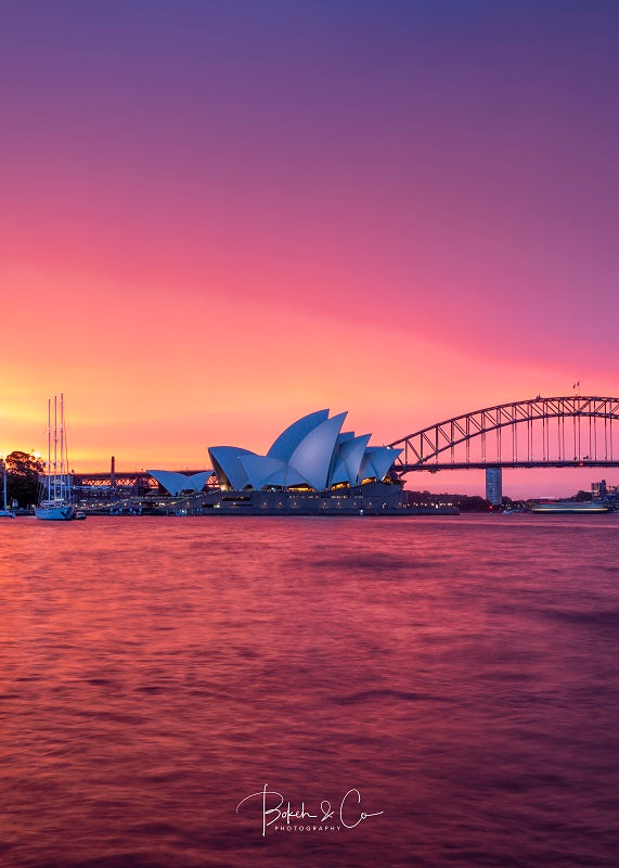 A Magical Burning Sunset Over Sydney