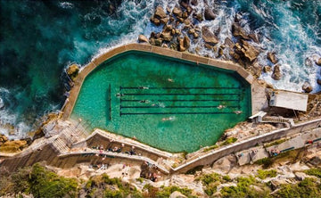 Bronte Pool from Above