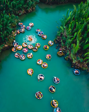 Coconut boats party in Vietnam