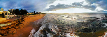 Early Morning Surf pano