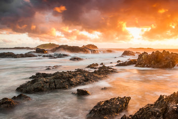 Fiery Island Sunrise - Sawtell NSW