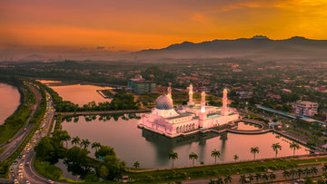 Floating Mosque Sunrise