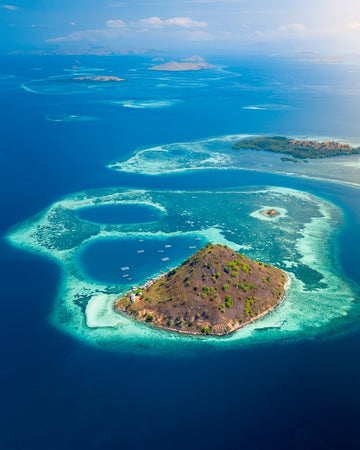 Kelor Island in Indonesia
