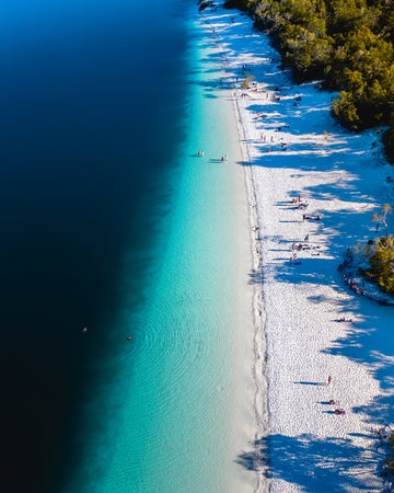 Lake McKenzie in Australia
