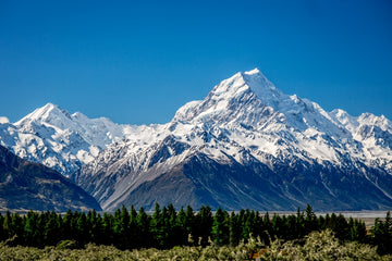 Mt Cook NZ Snow Capped Mountains