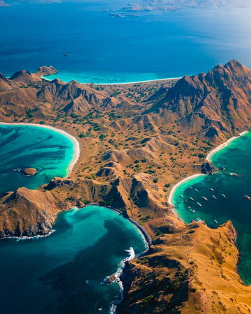Padar island topview in Indonesia