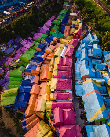 Rainbow village in Indonesia
