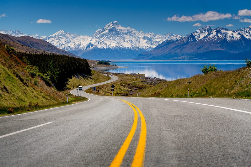 Road to Mount Cook NZ