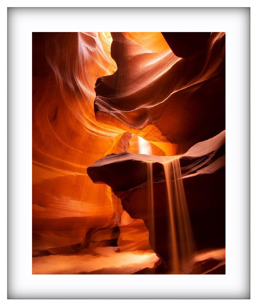 Sand Falls at Antelope Canyon