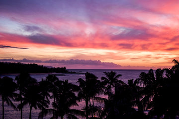Turtle Bay Hawaii Sunset