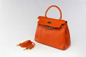 "EVA 11"" Orange Leather Gold"