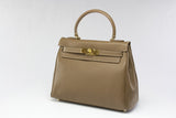 "EVA 11"" Taupe Leather Gold"
