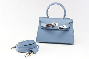 "EVA 8"" RIGID SOFT BLUE LEATHER"