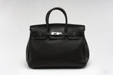 "CATY 14"" Black leather"