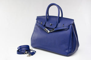"CATY 14"" Sapphire Blue Leather"