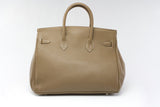 "CATY 14"" Taupe Leather"