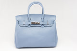 "CATY 12"" Soft Blue Leather"