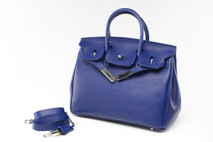 "CATY 12"" Sapphire Blue Leather"