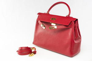 "EVA 13"" Red Leather Gold"