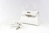"EVA 8"" White Leather"
