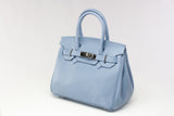 "CATY 10"" Soft Blue Leather"