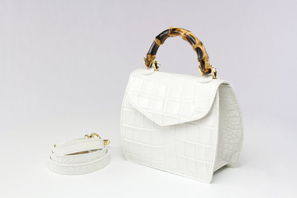 Minny Mini Cocco Mousse White Leather