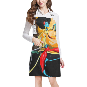 """When She Moves"" All Over Print Apron"