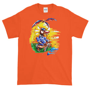 """Meditate With Teddy"" Mens Short-Sleeve T-Shirt"
