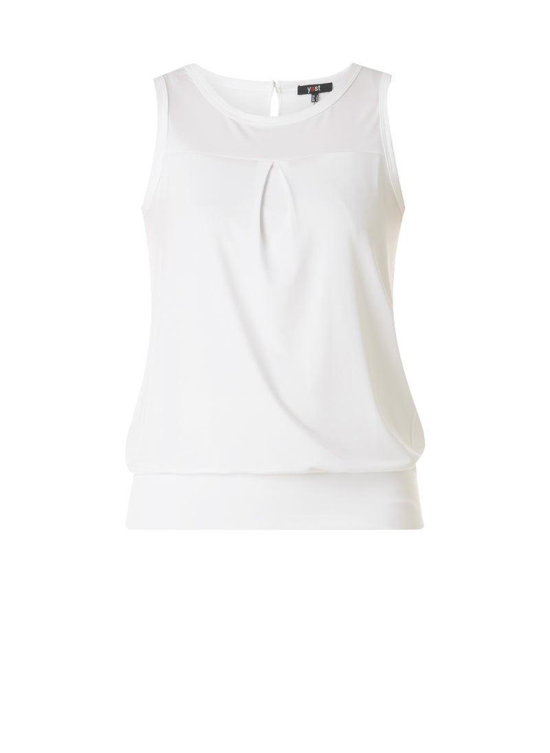 Sleeveless Banded Hem Top
