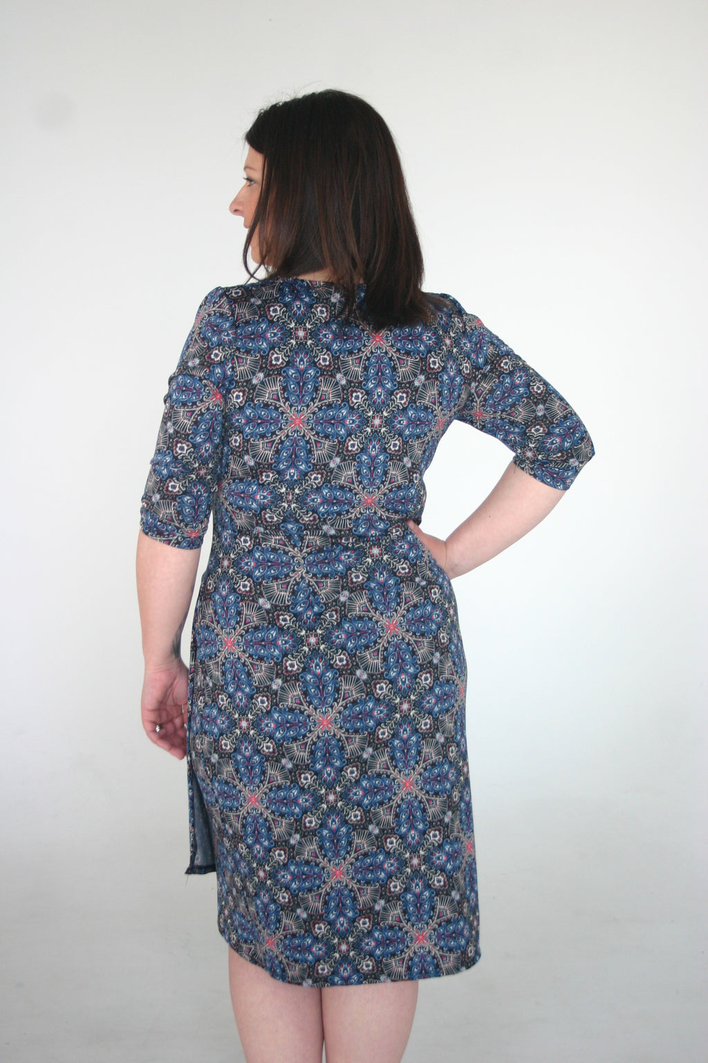 Ciara Cinch Dress - Tile Mix Print