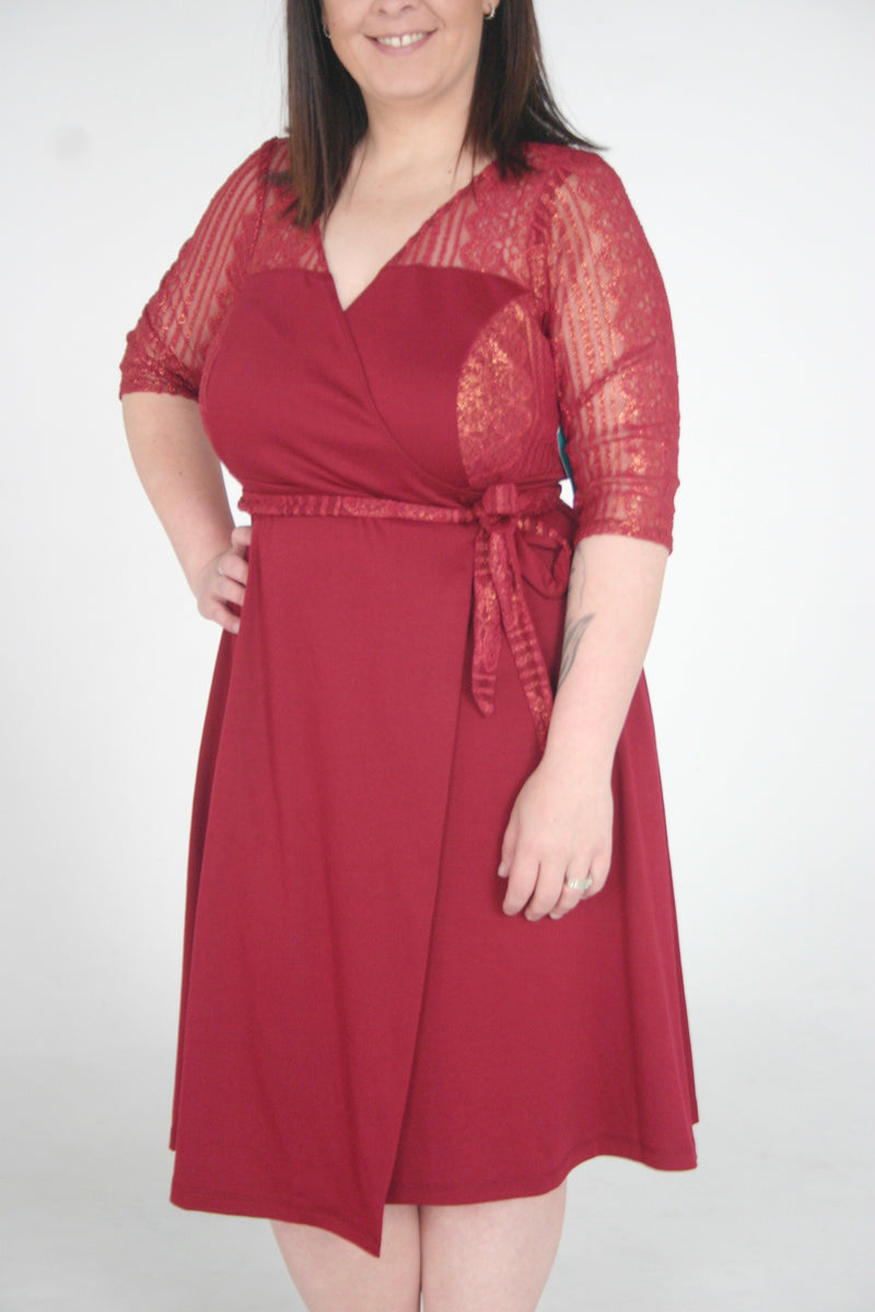 Ravishing Lace Wrap Dress