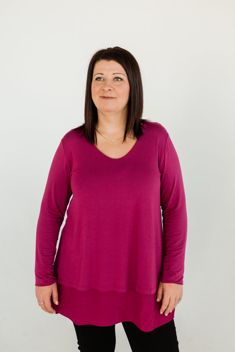 Split Layered Tunic