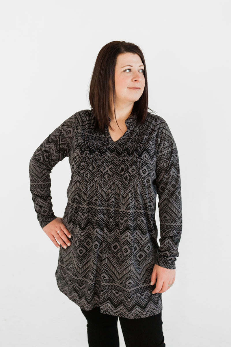 Grey Pattern Tunic