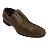New Mens Brown Formal Shoes Men Lace Up Designer Faux Leather Shoes Size 6-10