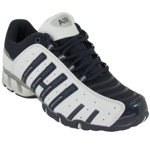 Mens Airtech Sports Trainers Mens Black White Gym Running Trainer Shoes UK 11
