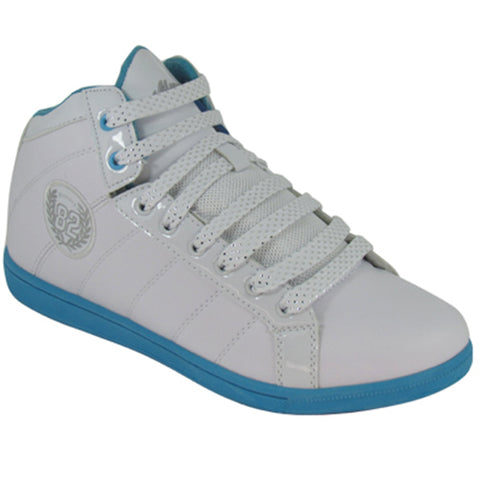 Ladies Ankle Girls HI High Tops Trainers Womens Aqua Patent Boots Ankle Shoes