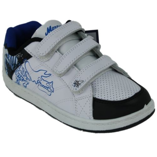 New Unisex Boys Trainers White Blue Fashion Flat Girls Trainers Shoes Size 13-2