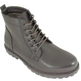 Mens Brown Ex Designer Lace-Up Combat Military Army Ankle Boots Shoes Sizes UK 8