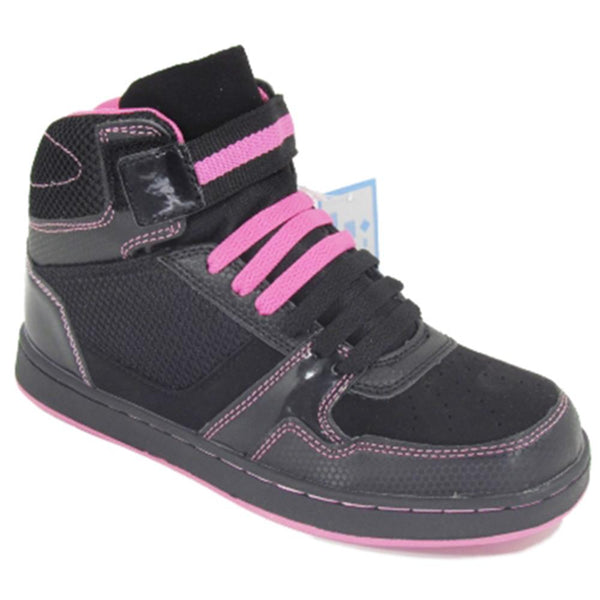 Ladies Black Ankle High Lace Up Trainers Women Fashion Boots Size 3-8
