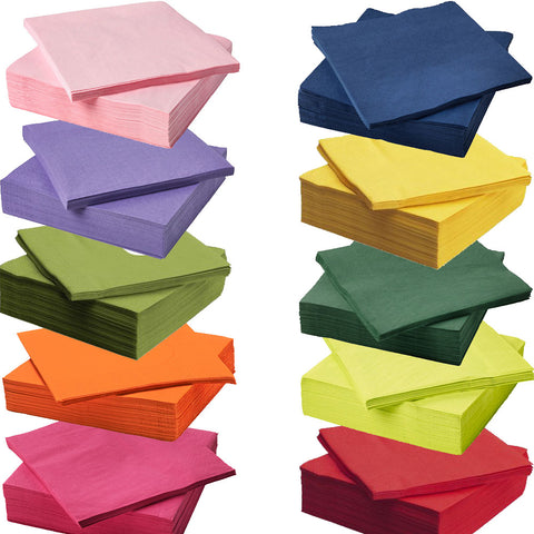 IKEA FANTASTISK 3-Ply Paper Napkins Serviettes Disposable Party Tissue Packs