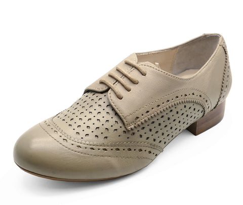 Ladies Genuine Leather Shoes Womens Lace Up Brogue Fashions Loafers UK 3-8