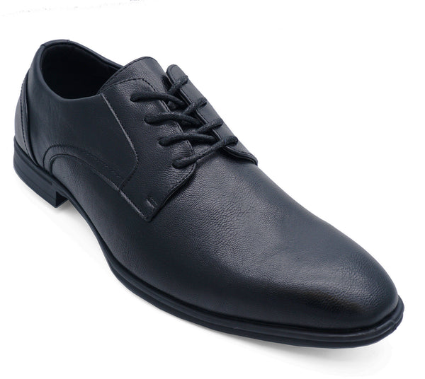Mens Faux Leather Black Lace up Office Formal Work Wedding Shoes UK 7-11
