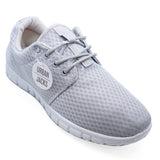 Mens Grey Lace Up Memory Foam Casual Running Trainers Plimsolls Pumps Shoes 7-12