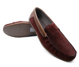 Mens Leather Slip-On Loafers Driving Boat Deck Casual Suede Moccasin Shoes 6-12
