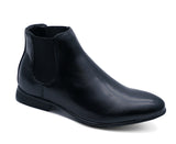 Boys Kids Chelsea Dealer Smart Formal School Black Wedding Shoes Boots UK 10-5