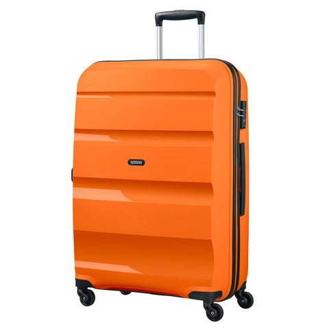 American Tourister Bon Air Large Suitcase Spinner Wheels Hard Case Zip ORANGE